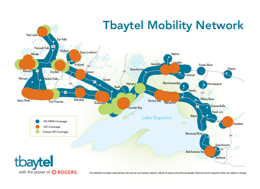 Tbaytel - LTE coverage